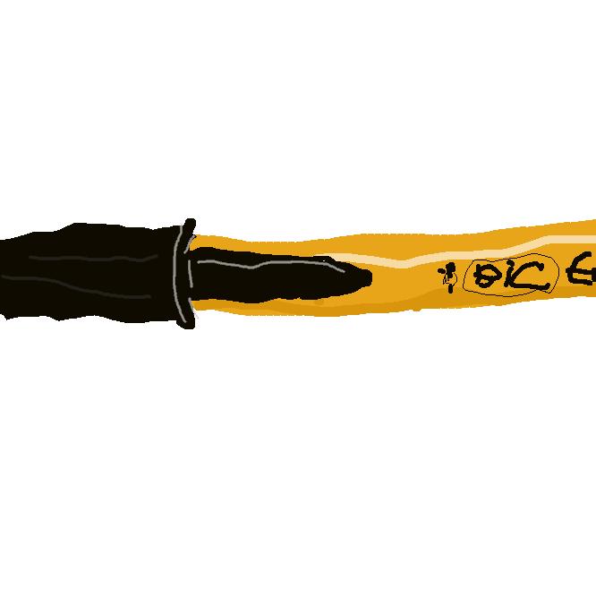 『オレンジビック』といわれるロングセラー油性ボールペンです。