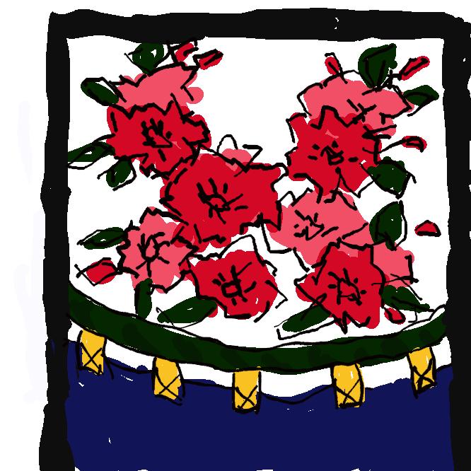 花札の3月の札で、取り札では20点になる札のこと。3月の札にはこの他に「桜に赤短」と「桜のカス」がある。